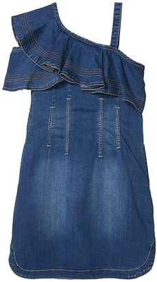 Habitual Stevie Ruffle Dress (Big Kids) (Dark Stone) Girl's Clothing