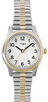 Timex Women's Dress Watch | Two-Tone Band White Dial | Elevated Classic T2N068
