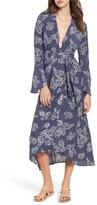 Faithfull The Brand Women's Floral Print Wrap Midi Dress