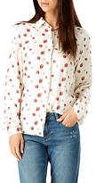 Sugarhill Boutique Blair Strawberry Print Shirt, Cream