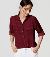 LOFT Midnight Vine Utility Blouse