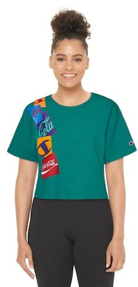 Champion Coca-Cola Cropped T-Shirt - Capri Sea Green