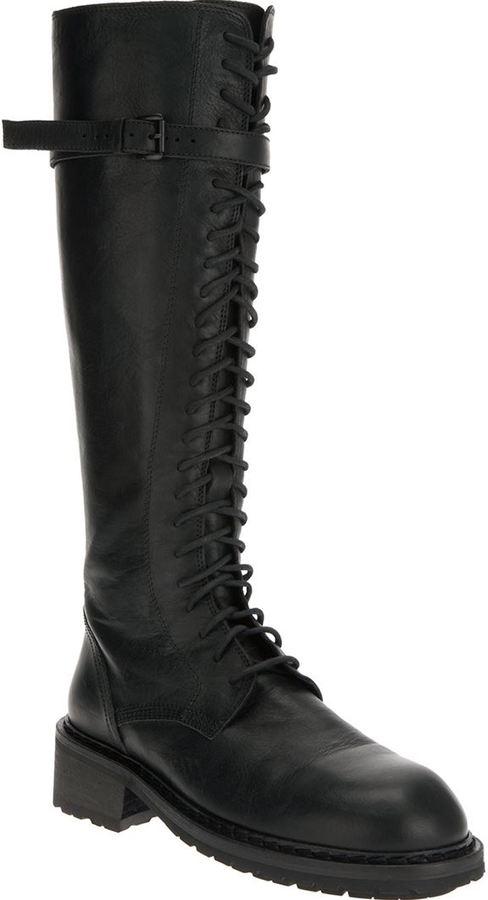 Ann Demeulemeester knee high military boots