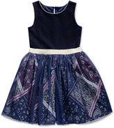 Sweet Heart Rose Tulle Skirt Sleeveless Dress, Toddler and Little Girls (2T-6X)