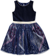 Sweet Heart Rose Tulle Skirt Sleeveless Dress, Toddler & Little Girls (2T-6X)