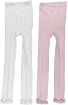 Jefferies Socks Ruffle Pima Capri 2-Pair Pack (Infant/Toddler/Little Kids/Big Kids)