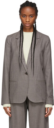 6397 Grey Pinstripe Perfect Blazer