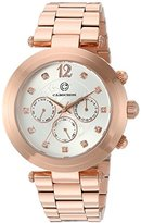 Cabochon Women's 'Papillon' Quartz Stainless Steel Watch, Color:Rose Gold-Toned (Model: 10263-RG-22)