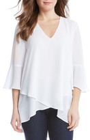 Karen Kane Women's Bell Sleeve Wrap Front Top