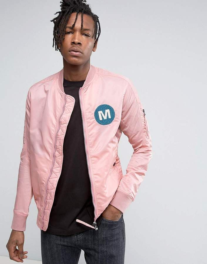 MHI MA1 Bomber Jacket In Pink