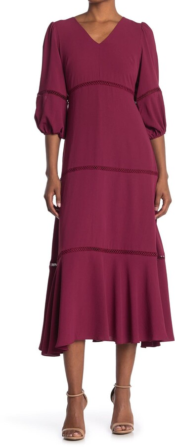 Thumbnail for your product : Taylor Lace Inset Tiered Maxi Dress