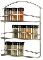 Spectrum Euro Wall Mount Spice Rack-Satin Nickel