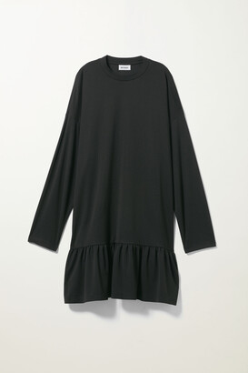 Weekday Erina Long Sleeve Dress - Black