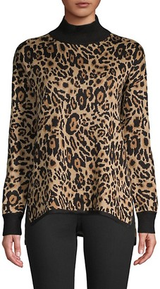 Calvin Klein Leopard Mockneck Sweater