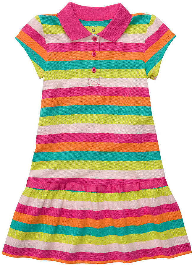 Carter's Kids Dress, Little Girl Printed Polo Dress