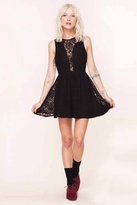 Lulu For Love & Lemons Dress in Black Floral Lace