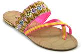 Rio Yellow & Pink Geometric Cross-Strap Sandal