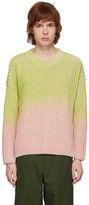 Jacquemus Green and Pink Le Pull Soleil Sweater