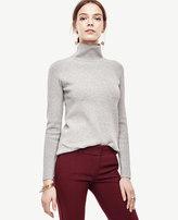 Ann Taylor Mock Neck Tunic Sweater