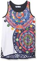 Desigual Girl's TS_DISTRIOD T-Shirt,(Manufacturer Size: 7/8)