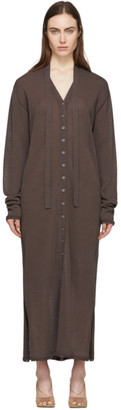 Lemaire Brown Cardigan Dress