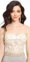 Camille La Vie 3D Floral Bodice Evening Dress