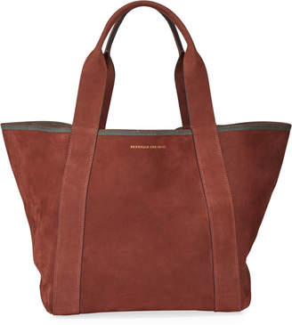 Brunello Cucinelli Suede Shopper Tote Bag