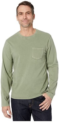 Lucky Brand Long Sleeve Sunset Pocket Tee (Insignia Blue) Men's Clothing