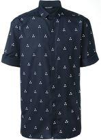 Neil Barrett geometric print shirt - men - Cotton - 39