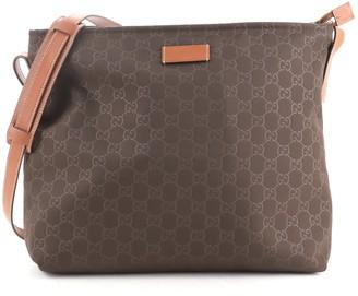 Gucci Zip Messenger Bag GG Nylon Large