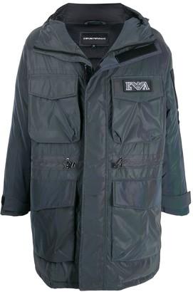 Emporio Armani oversized multi-pocket padded coat