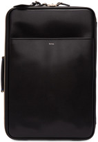 Paul Smith Black Leather Carry-On Trolley Suitcase