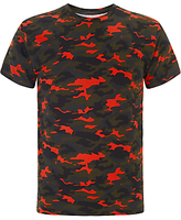 Eleven Paris Ramouf Camouflage T-shirt, Red/green