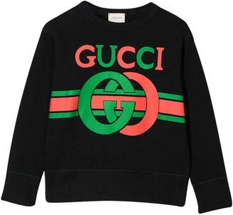 Gucci Blue Sweatshirt With Logo