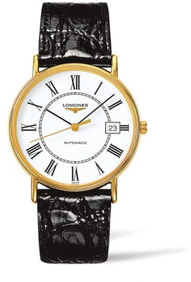 Longines Presence Leather Strap Watch