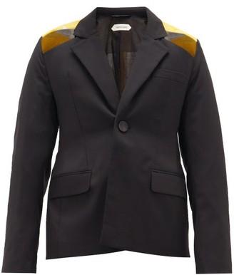Namacheko Soohu Embroidered-back Wool Jacket - Mens - Black Yellow