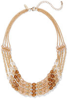 New York & Co. Goldtone 4-Row Beaded Necklace