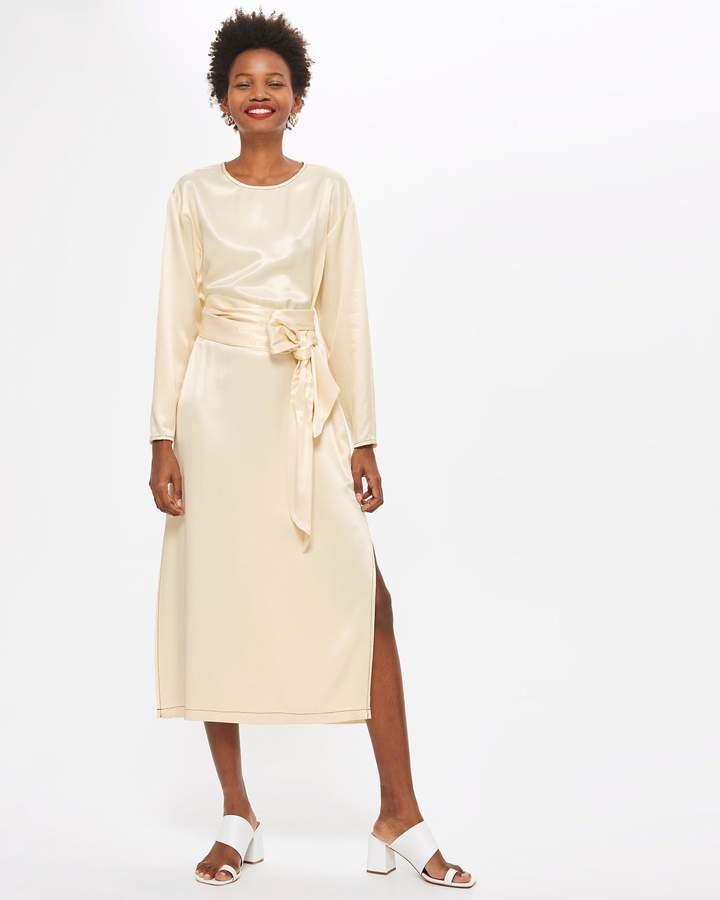 Topshop Ovoid Sleeve Midi Dress