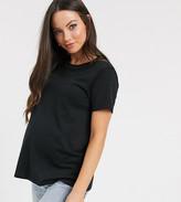 Asos DESIGN Maternity ultimate organic cotton crew neck t-shirt in black