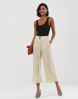 Y.A.S tailored crop trousers-Cream