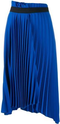 Balenciaga Pleated Asymmetric Skirt