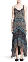 Proenza Schouler Women's Print Silk Tiered Maxi Dress
