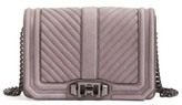 Rebecca Minkoff Small Love Nubuck Crossbody Bag - Purple