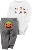 "Carter's Baby My First Halloween"" Bodysuit & Pumpkin Applique Bottoms Set"