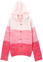 Pink Angel Pink Color Block Hooded Cardigan - Toddler & Girls