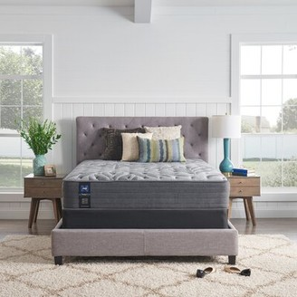 "Sealy Posturepedic Plus 13"" Plush Tight Top Mattress and Box Spring Mattress Size: Full, Box Spring Height: Low Profile (5"")"