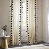 west elm Embroidered Border Curtain