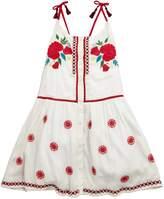 Very Embroidered Tassle Tie Dress