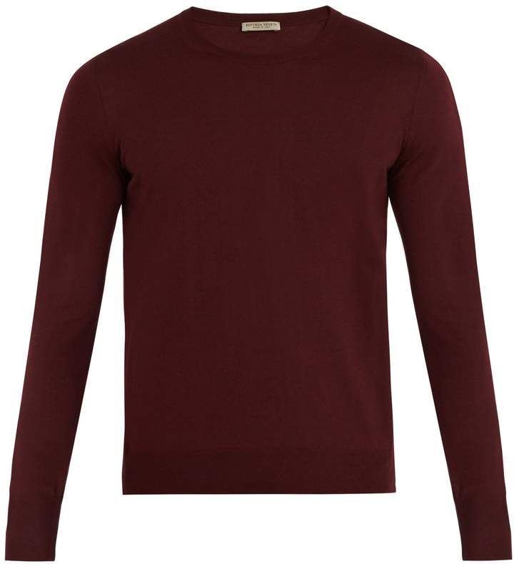Bottega Veneta Intrecciato-embroidered wool sweater