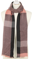 George Metallic-Shimmer Detail Check Scarf